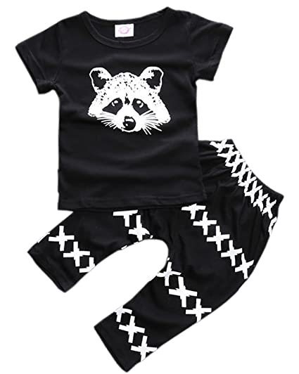 bbde1d0350b05 ZHUANNIAN Baby Boys Clothes 2PCS Outfit Set Long Sleeve Tops with Stripped  Pants