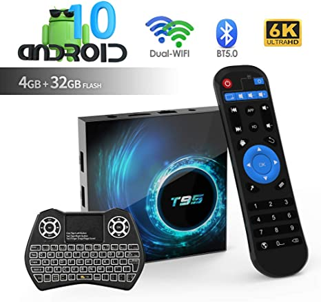 Android TV Box, T95 Android 10.0 TV Box 4GB RAM / 32GB ROM H616 Quad Core 64