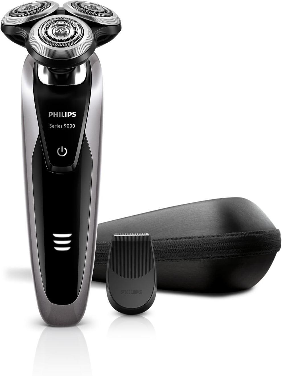 Philips SHAVER Series 9000 S9111/12 - Afeitadora (Negro, Gris, AC ...