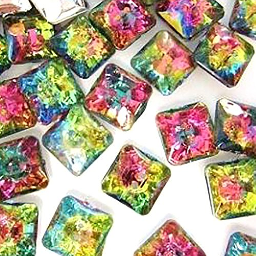 (Fancy & Decorative {12mm w/ 2 Holes} 20 Pack of Small Size Square