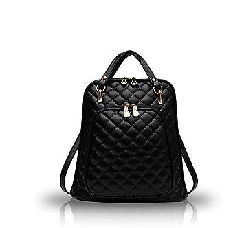 Nicole Doris new leisure backpack Large shoulder bag shoulder bag female  tidal College Wind backpack(Black 13521083c6b74