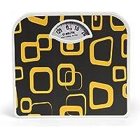 Belita Bps-M-1105 Square Display - Large Surface Personal Analogue Weighing Scale Upto 120 Kg - Orange