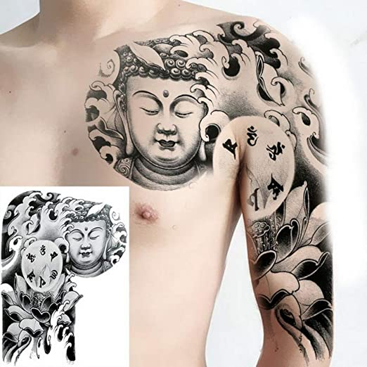 3ps-Pecho tatuaje manga tatuaje pegatina hombre hombro tatuaje ...