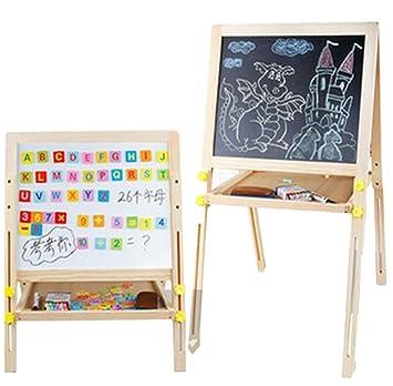 grandi tavoletta di legno per bambini tavolo da disegno lavagna e ... - Tavolo Da Disegno Per Bambini