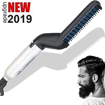 BUDDYGO Peigne Electrique pour Homme Rapide Barbe Lisseur Multifonctionnel Peigne Cheveux pour Lisser ou Boucler 120°C Professionnel Cheveux Styler