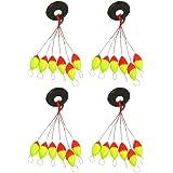 Boya de pesca - TOOGOO(R) 4pzs Amarillo rojo Plastico 6 en 1 Tapon