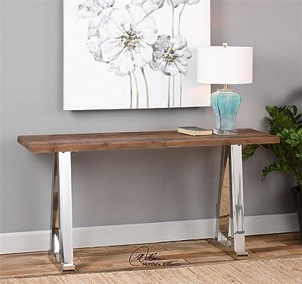 Amazon.com: Mesa consola de madera la colección de Hesperos ...