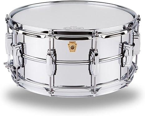 Ludwig LM402 tambor de caja de aluminio cromado liso 6,5 x 14 pulgadas con tapones imperiales y colador suprafónico: Amazon.es: Instrumentos musicales
