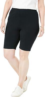 7a21e59f4a Woman Within Women's Plus Size Stretch Cotton Bike Short