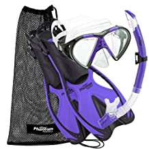 Phantom Aquatics Speed Sport Mask Fin Snorkel Set, Adult, Twilight - Small/Medium