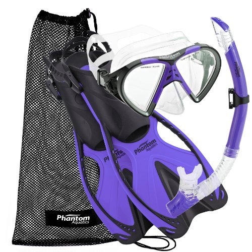 Phantom Aquatics Adult Speed Sport Mask Fin Snorkel Set ()