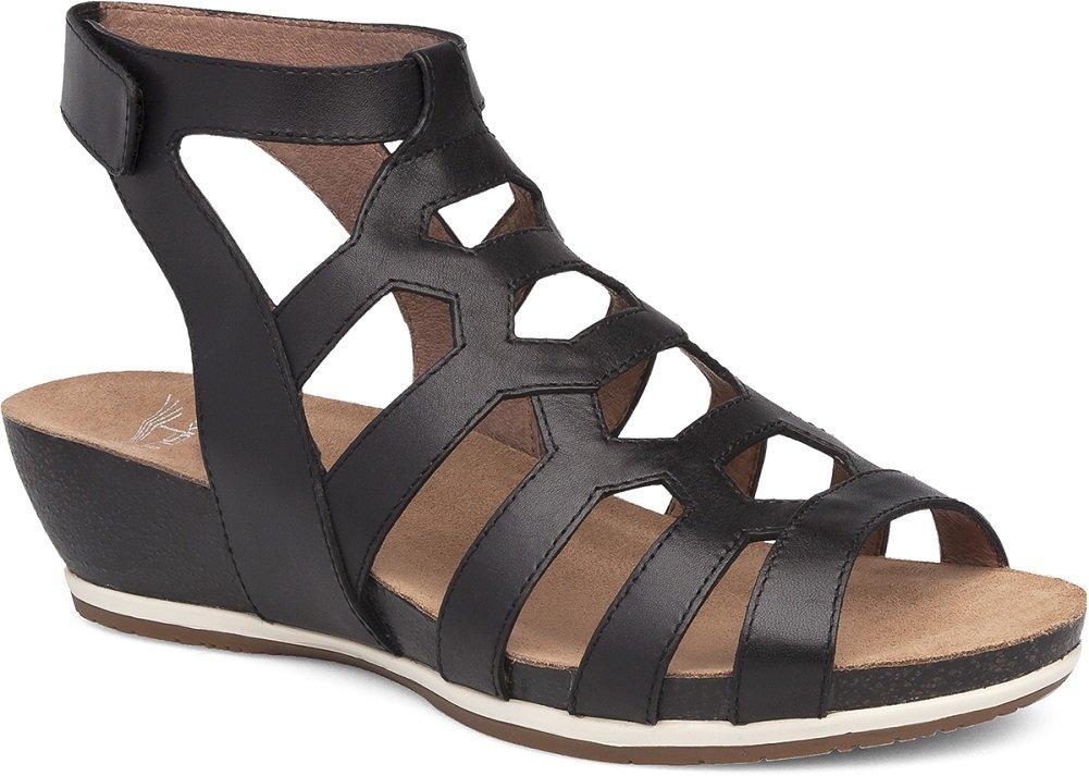 Dansko Women's Valentina Flat Sandal, Black Full Grain, 42 M EU (11.5-12 US) by Dansko
