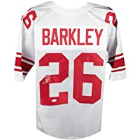 $159 » Saquon Barkley Autographed New York Giants White Custom Football Jersey - JSA COA