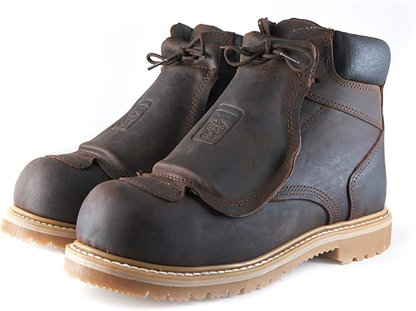 Welt Santos Metatarsal ASTM 2413-18 Premium Leather Work Boots Composite Toe Goodyear Resoleable Sole Kevlar Plate