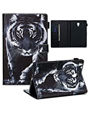 Jorisa Tablet Case Compatible with Samsung Galaxy Tab A 10.5 (2018) T590 T595,Slim Leather Wallet Flip Magnetic Smart Stand Cover with Auto Wake/Sleep and Card Slots,Black Tiger