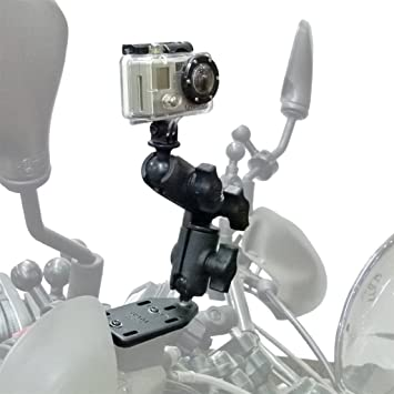 "Ram Mount bola de diámetro RAM-RAP-B-202U-GO 1/"" con Adaptador Personalizado Go Pro Hero"