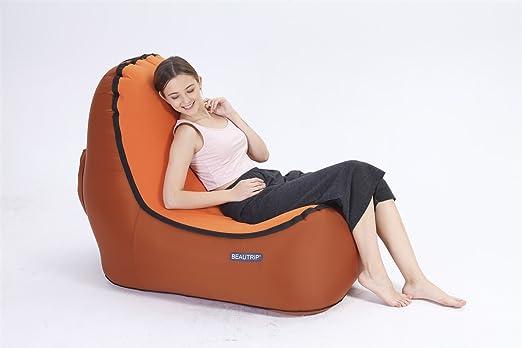 DEWIN Sofá Inflable - Asga un Asiento cómodo con el sillón ...