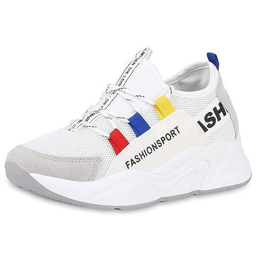 SCARPE VITA Damen Sportschuhe Slip Ons Prints Strick: Amazon