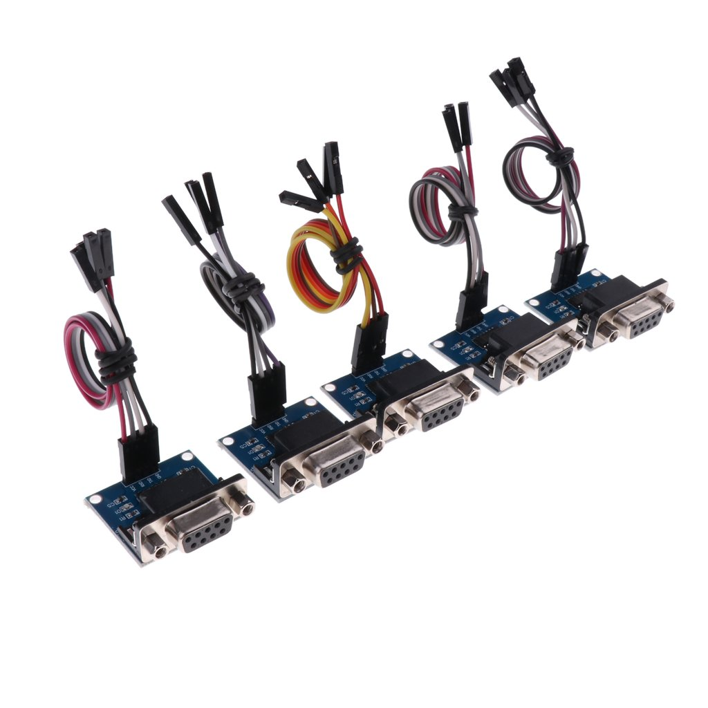 Homyl 5pcs Ultra Compact Convertisseur RS232 Vers TTL Avec Femelle DB9 Pour Microcontr/ôleur NXP Et STM32