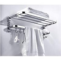 Boor/Geen Boren RVS Wandmontage Badkamer Handdoek Rack Geborsteld Handdoek Houder Hotel Rail Plank Opslaghouder voor De…