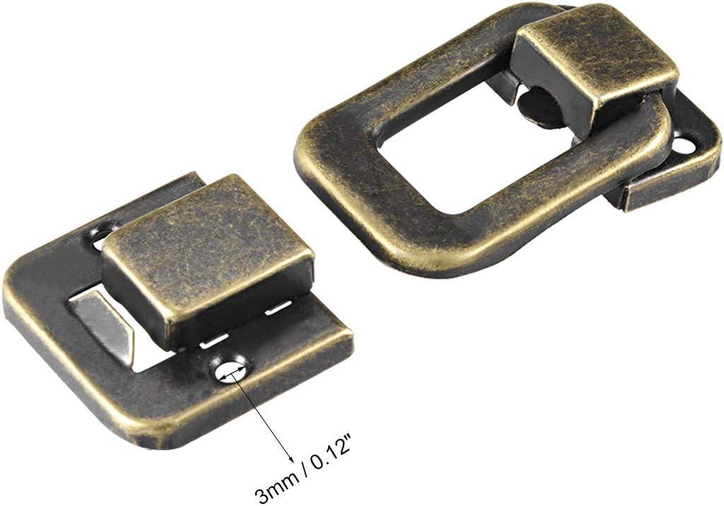 40 mm 2 unidades Sourcingmap maleta estilo retro Pestillo de pestillo caja con tornillos bronce decorativo joyero