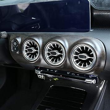 Diyucar Eichenholzmaserung Abs Für Benz A Klasse W177 A180 A200 2019 Zentralsteuerung Klimaanlage Dekoratives Paneelzubehör Auto