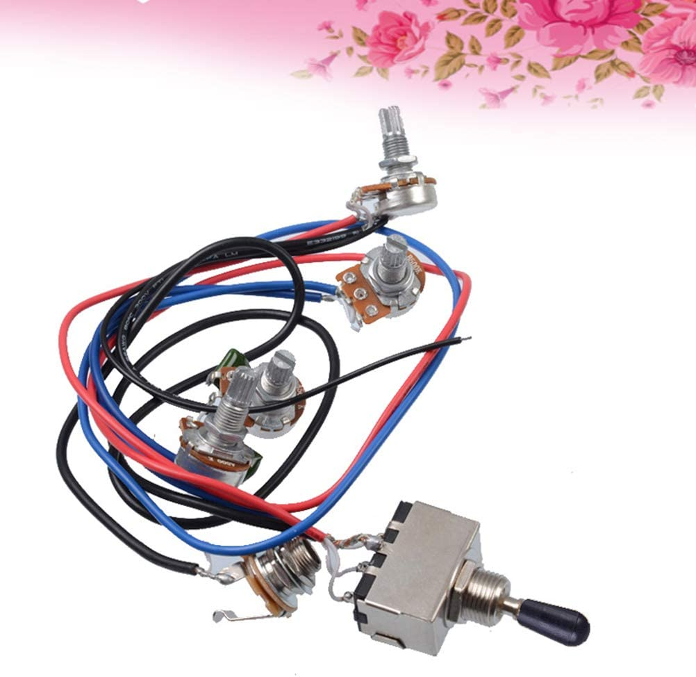 HEALLILY Guitar Wiring Harness Accessories LP Electric ... on guitar lights, guitar cable, guitar toggle switch, guitar pots, guitar battery box, guitar frame, guitar decals, aircraft wire harness, guitar tailpiece, bass guitar harness, guitar fender,
