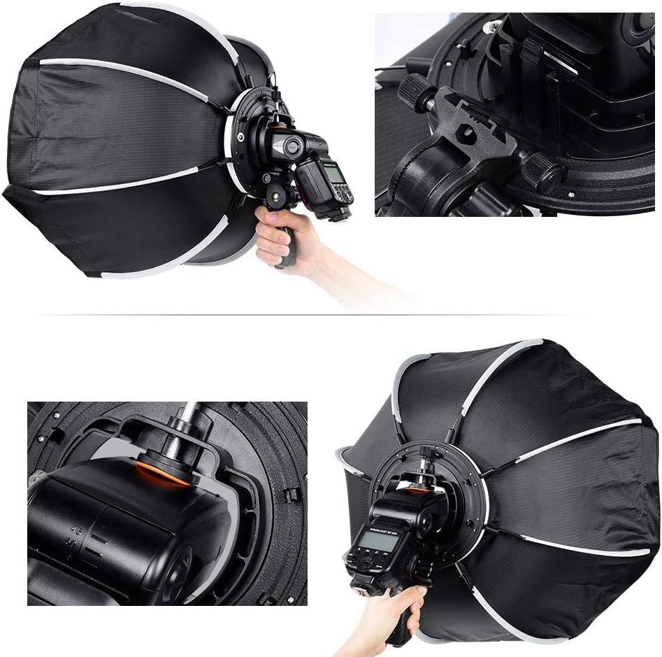 Neufday Octagon Soft Umbrella for Studio Flash with Handheld Handle 65cm