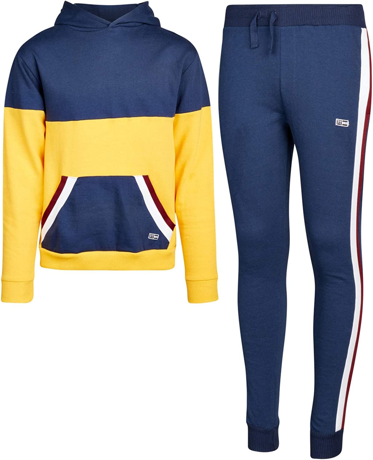 Beverly Hills Polo Club Boys Jogger Set Fleece Pullover Hoodie Sweatshirt and Sweatpants Outfit