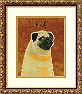 Amazon com: Framed Art Print 'Pug' by John W  Golden