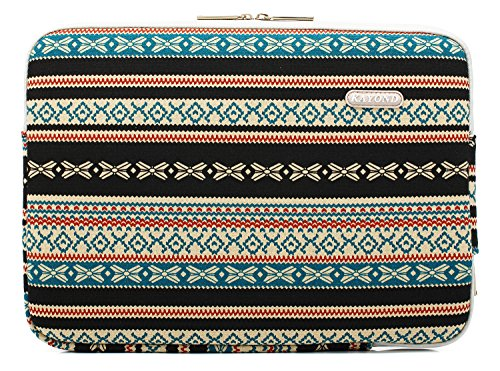 Kayond Canvas Water-Resistant 13 inch Laptop Sleeve -13 inch 13.3 inch Laptop case,12.9 inch Tablet Case Compatible MacBook(13-13.3 inches, New Bohemian) by kayond (Image #1)