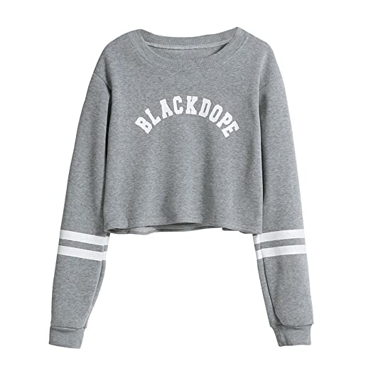 Fashion Womens Long Sleeve Sweatshirt V Neck Causal Tops Blouse Spring Pullover Sweatshirts at Amazon Womens Clothing store: