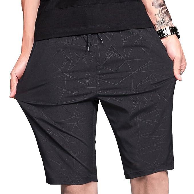 LTIFONE Pantalones Cortos de Entrenamiento para Hombre 7afab21e5526