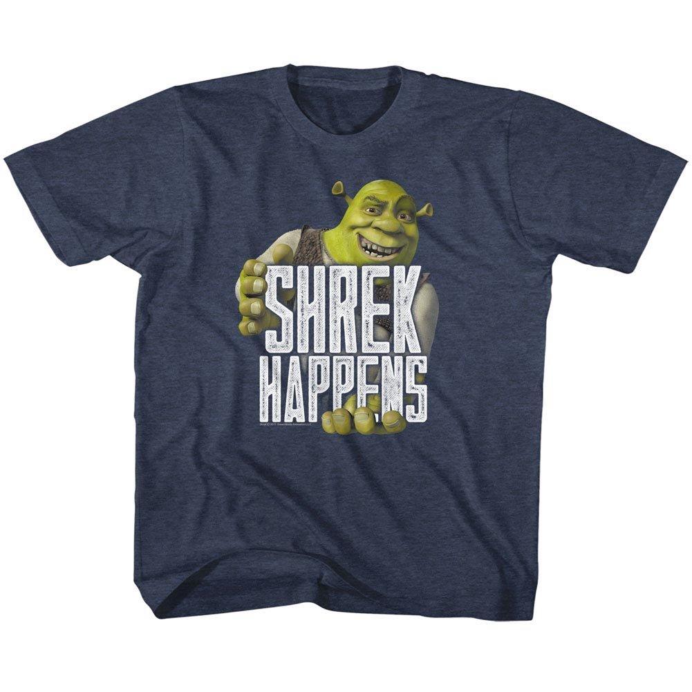 American Classics Shrek Movie Happens Navy Heather Toddler Little Boys T-Shirt Tee