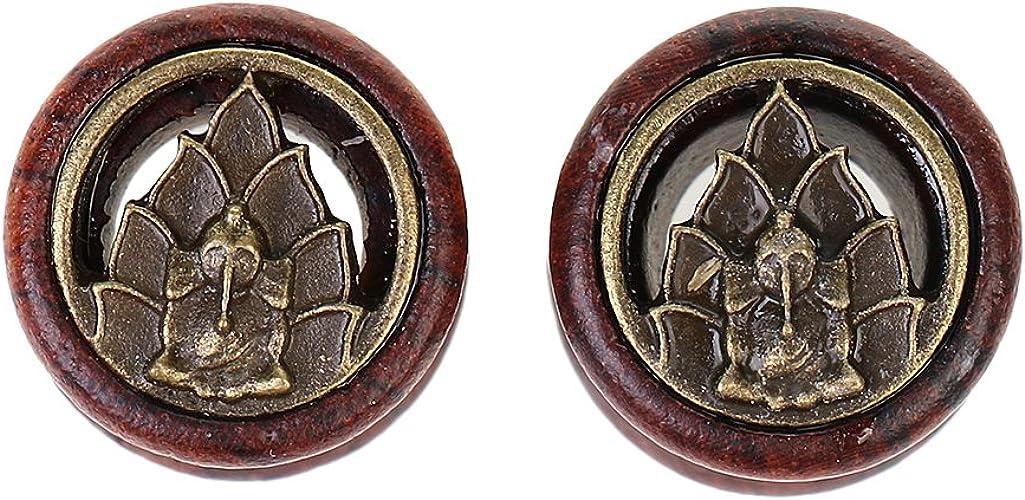 Buddha Ear Tunnels Flesh Tunnels  Ear Gauges Ear Plug Body Piercing Jewelry ME