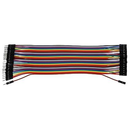 TOOGOO(R) 20 cm largo F / F Sin soldadura Flexible Alambre Cable Jumper