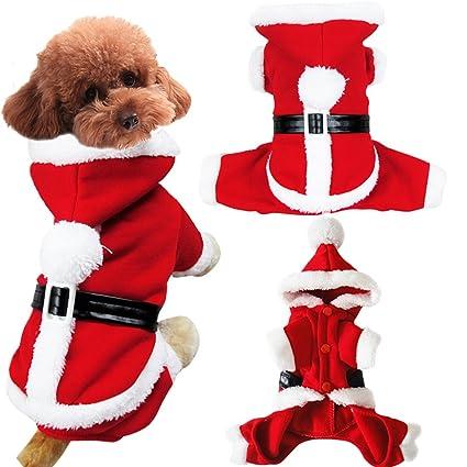 07df92ce455e Pet Dog Puppy Teddy Christmas Clothes Santa Claus Costume Fancy Dress  Fleece Cold Weather Winter Warm