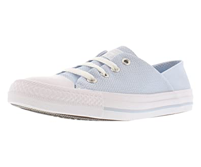 b953ebd5322ed6 Converse Women s Chuck Taylor All Star Coral Ox Woven Sneaker Porpoise White  White Size