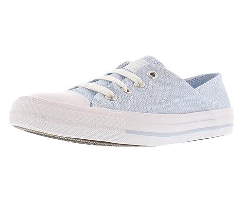 78c0a6399e45 Converse Women s Chuck Taylor All Star Coral Ox Woven Sneaker  Porpoise White White Size