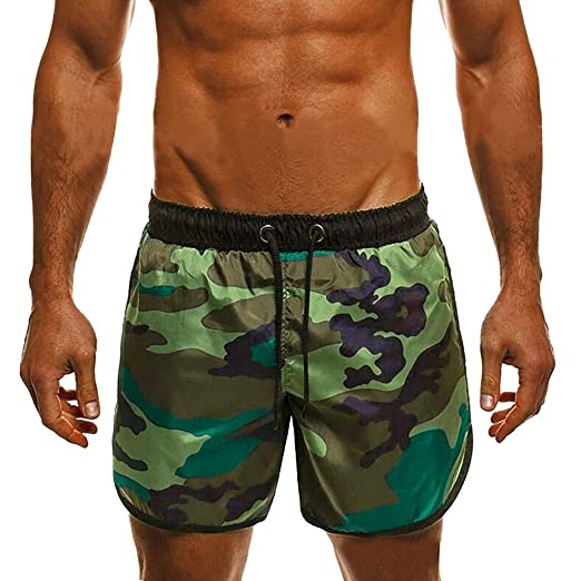 ed58b420b9d8 Amazon.com  Handsome Comfort Camouflage Graffiti Print Swim Trunks ...