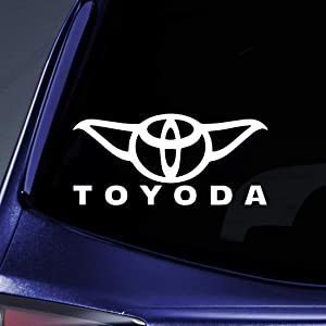 "Bargain Max Decals - Toyoda Yoda Sticker Decal Notebook Car Laptop 8"" (White)"