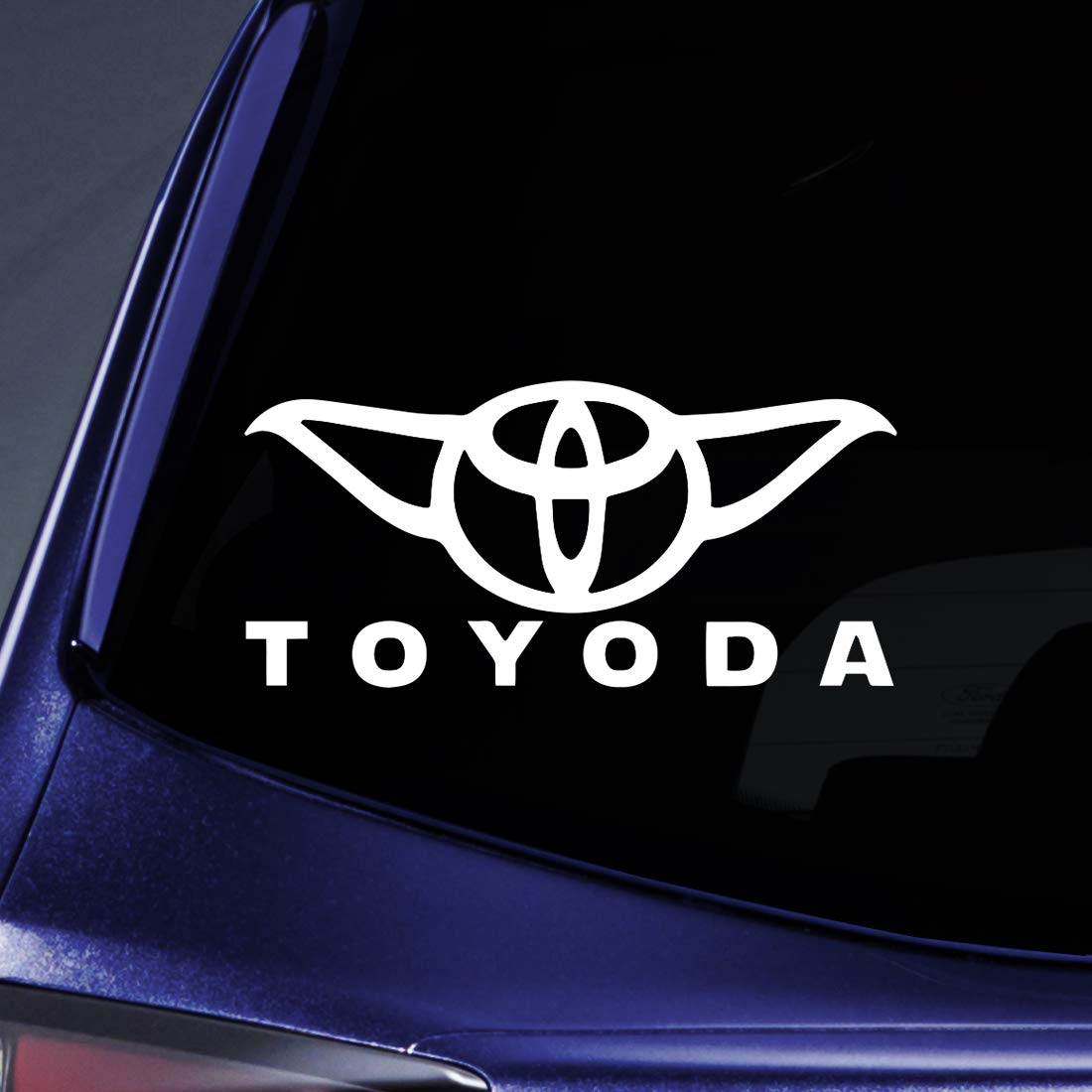 Amazon com bargain max decals toyoda yoda sticker decal notebook car laptop 8 white automotive