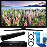 Samsung (UN43M5300A) Flat 43'' LED HD 5 Series Smart TV (2017) with HDMI 1080p HD DVD Player + Solo X3 Bluetooth Home Theater Sound Bar + 2x 6ft HDMI Cable + Universal Screen Cleaner for LED TVs