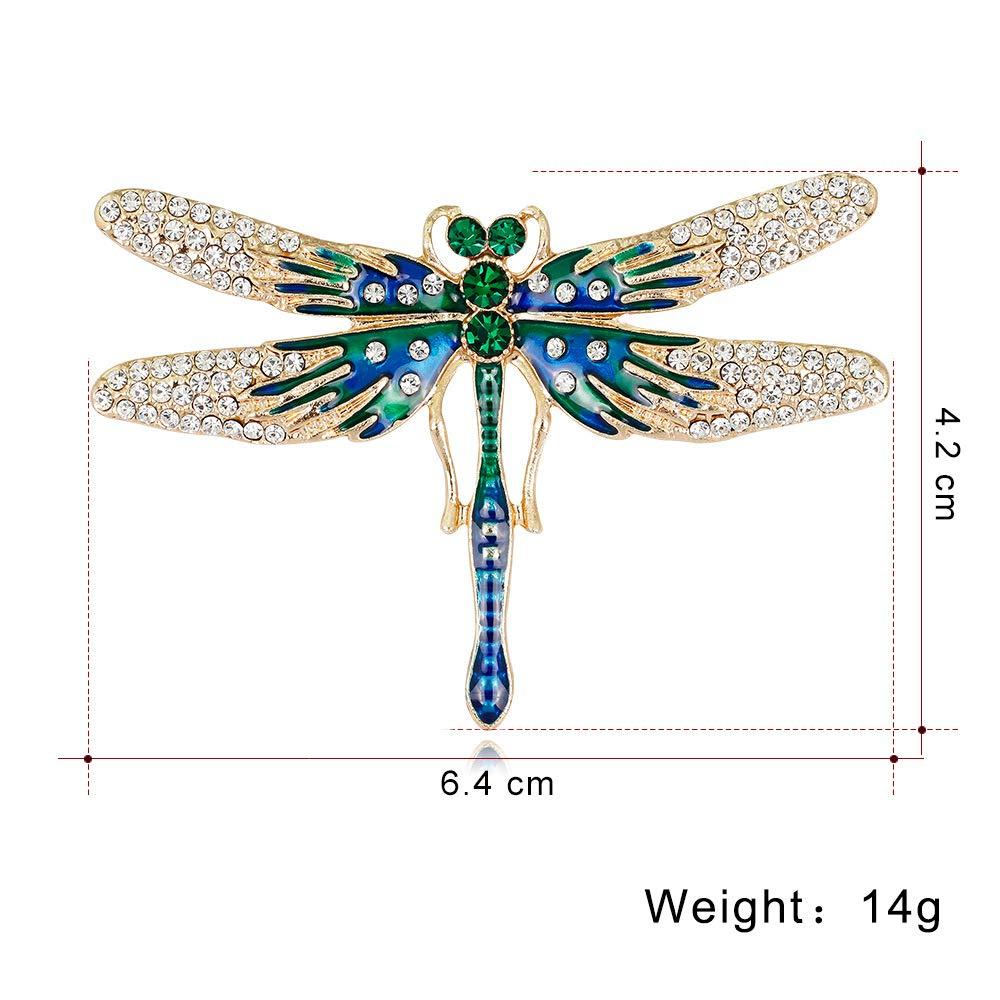 Womens Dressing Dragonfly Drill Brooch Brooch. Fashion Alloy YYOGG Brooch Diamond Drill