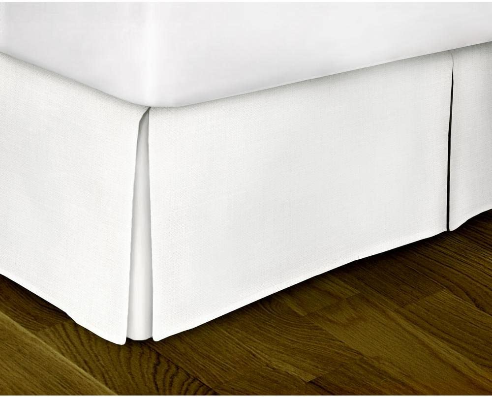 SCALABEDDING Luxury 600-Thread-Count 100/% Egyptian Cotton 1pc Split Corner Bed Skirt 15 Drop Length Full XL White Solid
