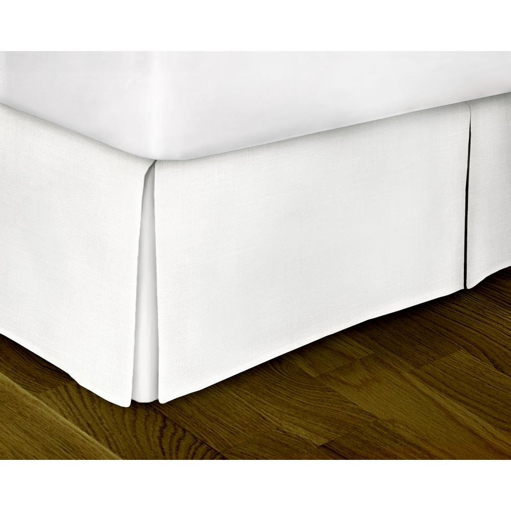 Bed-Bucket White Full Size 54''x75'' Inch Split Corner Bed Skirt 12'' Inch Drop Length Luxurious Hotel Collection 400 Thread Count 100% Natural cotton Hypoallergenic Decorative Solid by (Full, White)