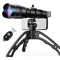 Apexel Zestaw obiektywów do aparatu komórkowego, 36X obiektyw teleobiektyw z mini statywem i zdalnym migawką do iPhone X…