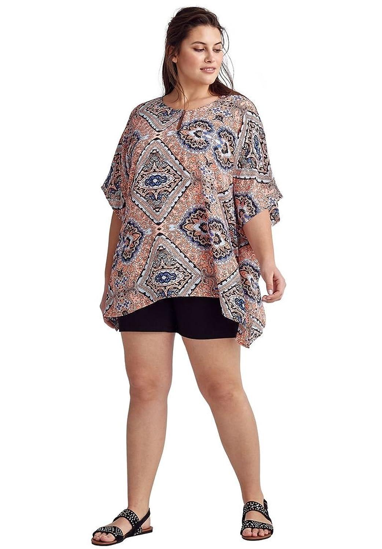 271bf30f652 Top1  Ellos Women s Plus Size Sheer Poncho Tunic. Wholesale ...