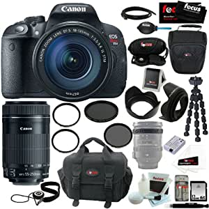 Canon EOS Rebel T5i with EF-S 18-135mm IS STM Kit + Canon EF-S 55-250mm f/4-5.6 IS STM + 32GB SDHC Secure Digital Memory Card + Accessory Kit