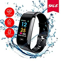 Sport Fitness Activity Tracker READ R18 Smart Watch Heart Rate Blood Pressure Sleep Monitor Watch IP67 Life-Level Waterproof Call Message and SNS Sedentary Remind Watch for Android iOS